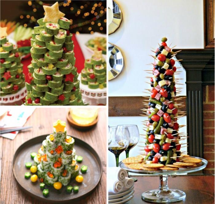 Способы украсить новогодние блюда (10 фото)