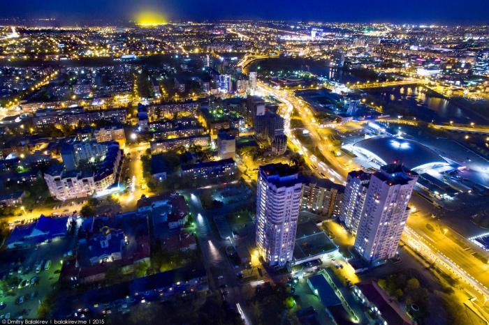 Панорамы ночного Челябинска с высоты (9 фото)