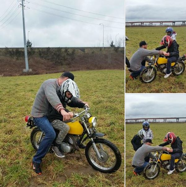 Возвращение угнанного мотоцикла (3 фото)