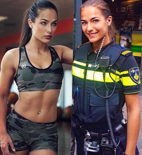 Модель со способностями полицейского (25 фото)