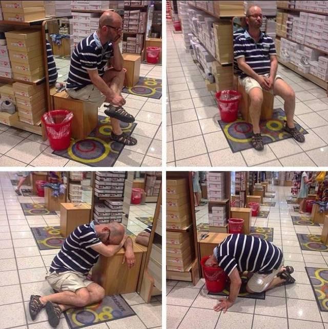Muškarci u shoppingu sa ženama, samo najjači preživljavaju (29 fotografija)