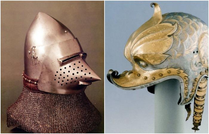 Подборка устрашающих и забавных рыцарских шлемов (28 фото)