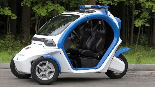 Московская полиция получила четыре электромобиля «Овум» (5 фото)