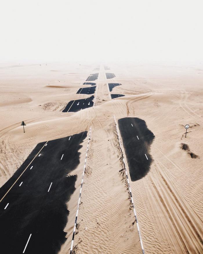 Величие песков Дубая на фотографиях (21 фото)