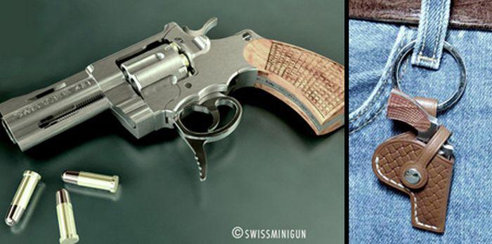 Миниатюрный пистолет для самозащиты (7 фото)
