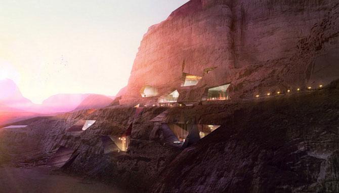 Отель в скале (20 фото)