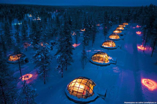 Уникальная гостиница в Лапландии со стеклянными иглу (20 фото)