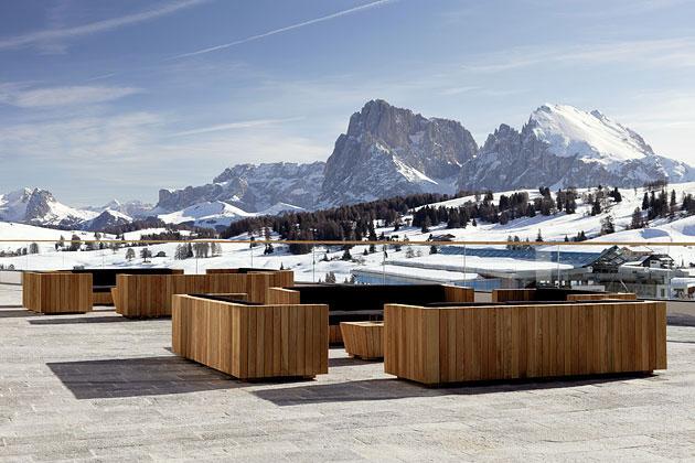 Отель в Доломитовых Альпах (18 фото)