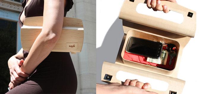 Дамские сумочки из дерева (12 фото)