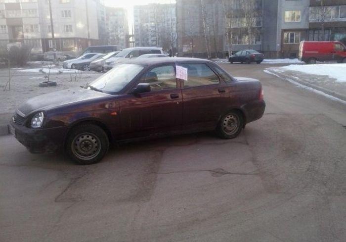 Очередной автолюбитель наказан за неправильную парковку (3 фото)