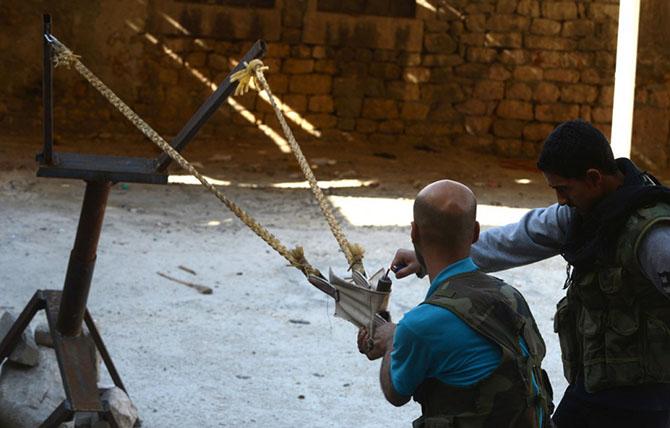 Самодельное оружие сирийских повстанцев (30 фото)