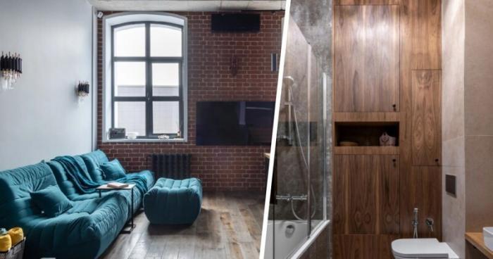 Квартира мечты: крутой проект в стиле Лофт для холостяка (13 фото)