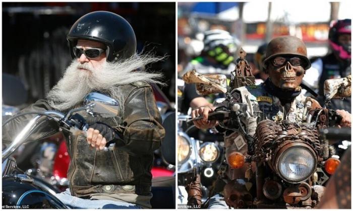 Улицы Флориды заполонили 300 тысяч мотоциклистов (16 фото)